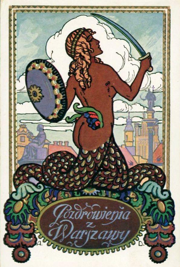 Polish legends: Warsaw Mermaid | read more on lamusdworski.wordpress.com