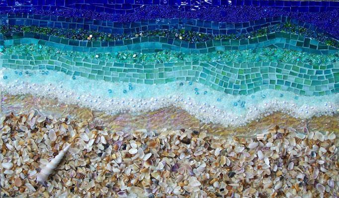 beach and water mosaic