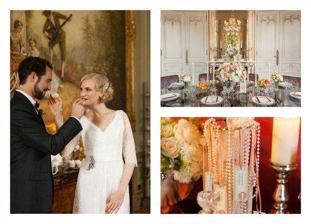 """Sehen Sie hier ein Styled Hochzeit-Shooting ganz im Stil von """"The great Gatsby"""" im 20er Jahre-Look"""