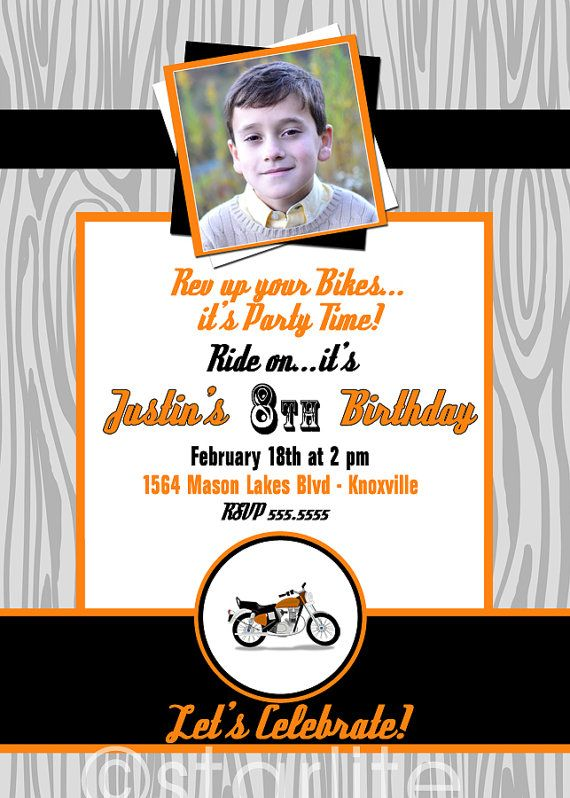 1000 images about Motorcycle Party – Motorcycle Party Invitations