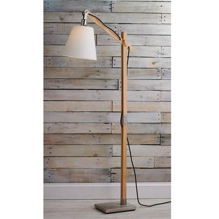 modern rustic wood arc floor lamp