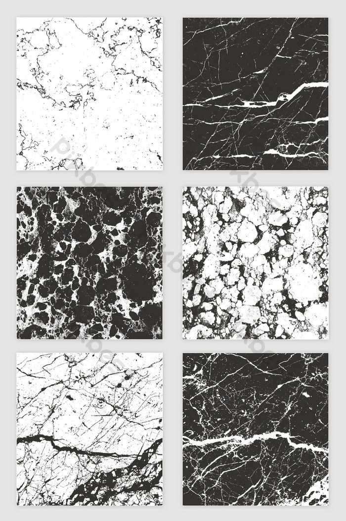 6 Vector Black And White Slate Texture Shading Backgrounds
