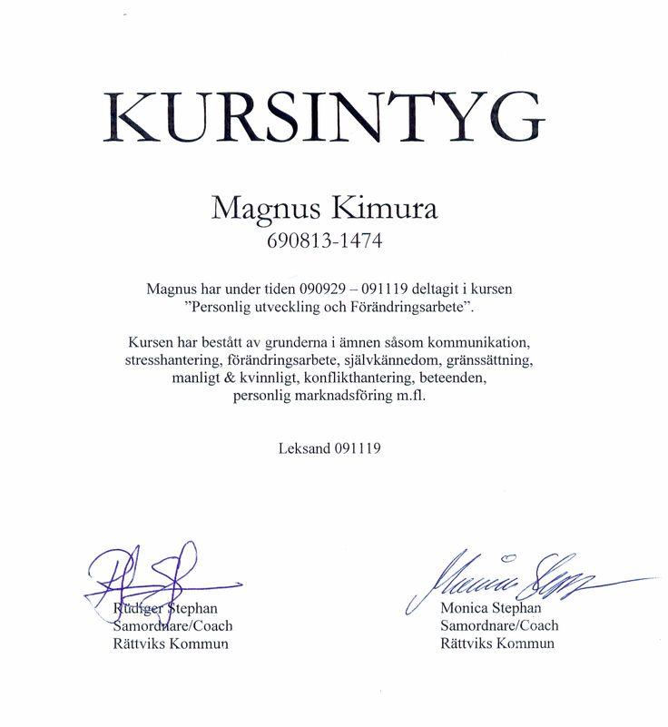 kursintyg - Sök på Google Kursintyg Pinterest Google - noc certificate for passport