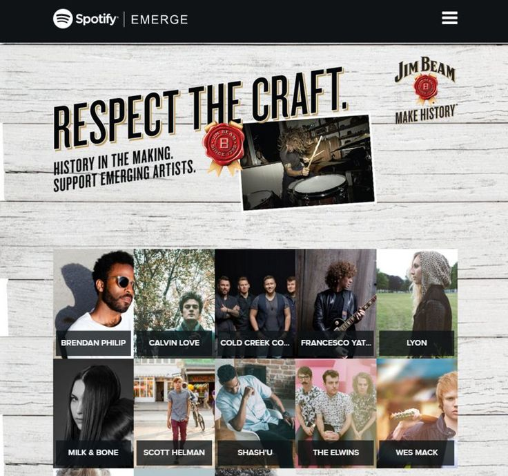 Co-Branded Music Campaigns : respect the craft