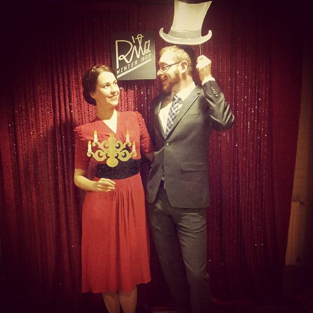 """""""A night at the opera"""" Dancing the night away at Ritz winter hop. #ritzwinterhop2015 #ritzwinterhop #lindyhop #dancing #saintsavoyshoes #photobooth #dancecamp #dressup #vintagestyle #dress"""