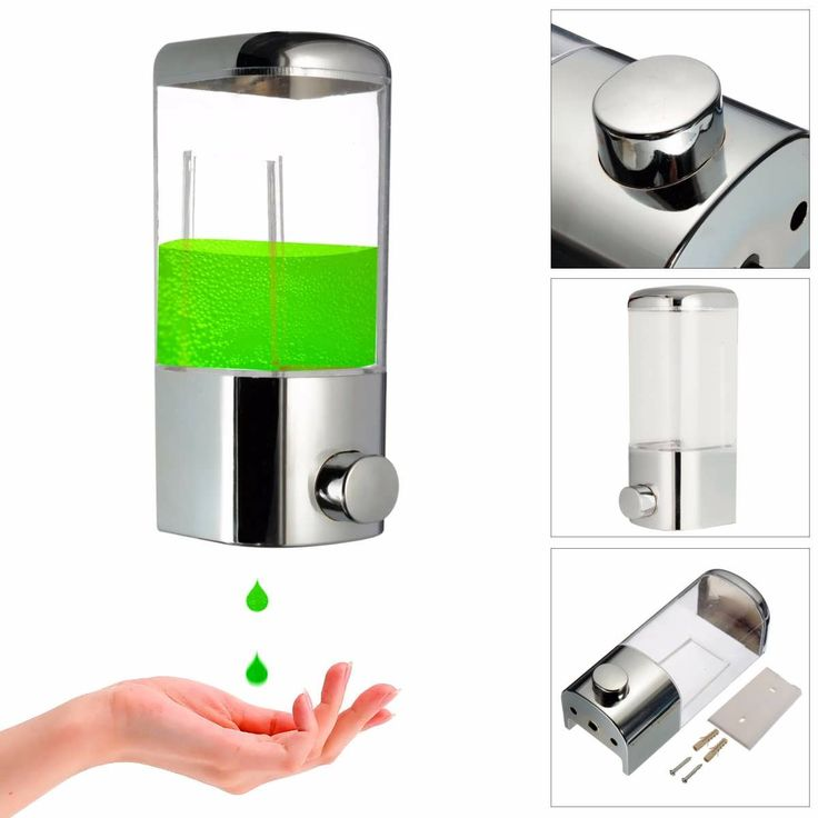 Description:    Wall Mounted Bathroom Lotion Shampoo Liquid Soap Dispenser    This soap dispenser is made of ABS material and it has great compacity.  It is a nice tool in the bathroom and install this soap dispenser in the bathroom can remind you to wash you hand after...