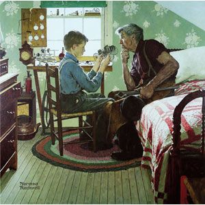 """The Inventor"" - Norman Rockwell"