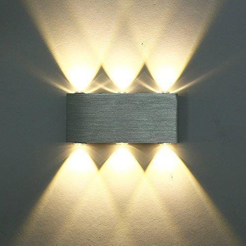 Oferta: 14.99€ Dto: -67%. Comprar Ofertas de Lightess Apliques de Pared Rectangular Lámpara en Moda de Puro Aluminio 6 LED 6 W Luz Cálida y Agradable Luz de Ambiente, Ilu barato. ¡Mira las ofertas!