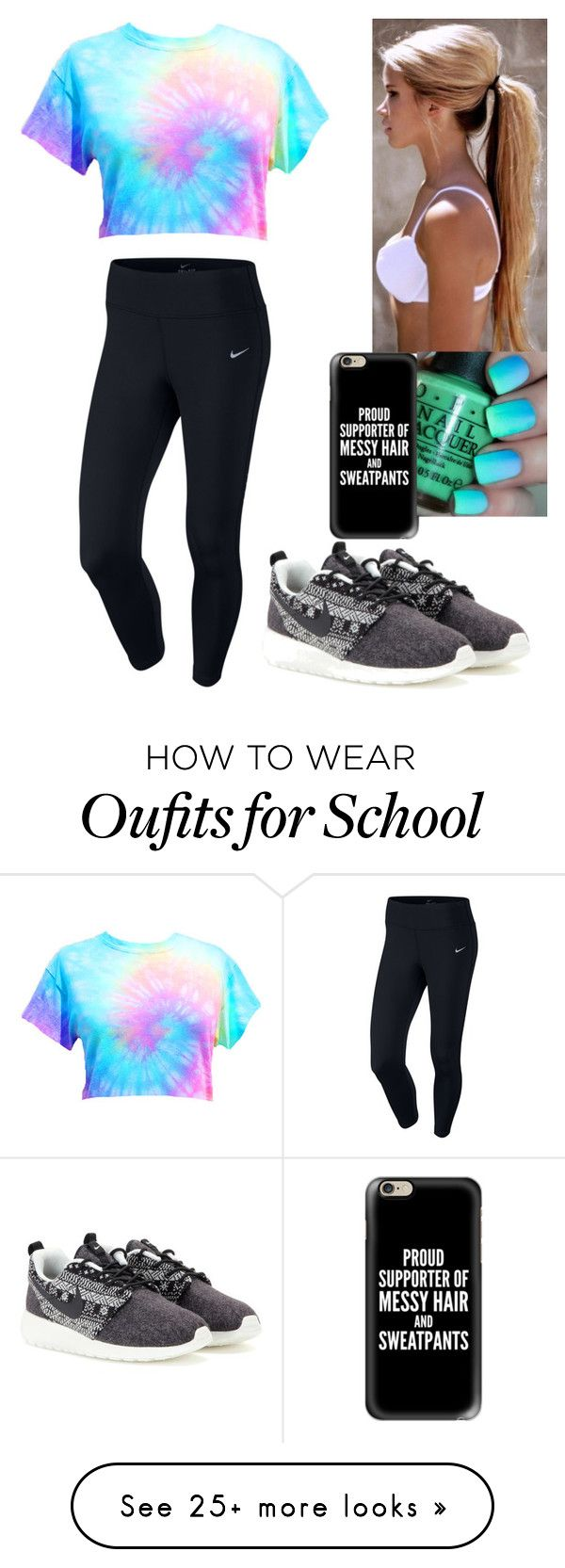 """""""casual school"""" by kjward20 on Polyvore featuring NIKE and Casetify"""