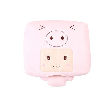 Lovely Warmer USB Mouse Pad for Home and Office Use in Winter Cartoon Pink Pig