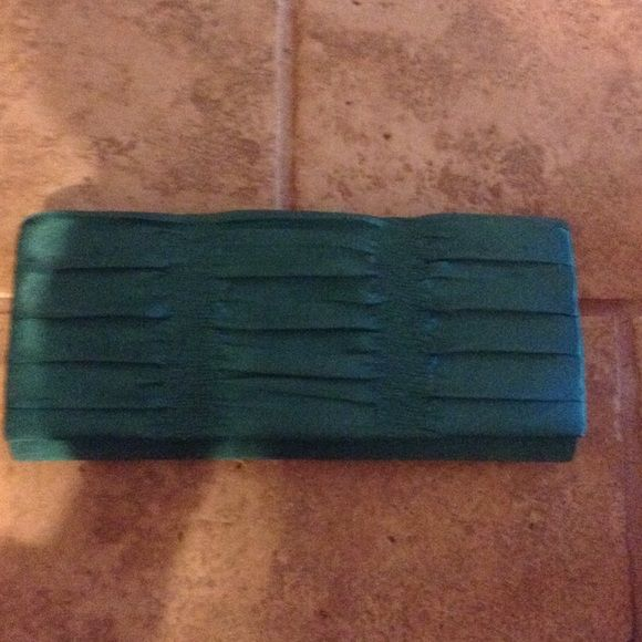 Green formal clutch. Green formal clutch. Like new. Bags Clutches & Wristlets