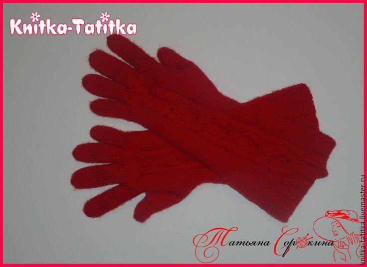 """Купить Перчатки удлиненные -""""Кровавая Мэри"""" - ярко-красный, перчатки, удлиненные перчатки, теплые перчатки"""