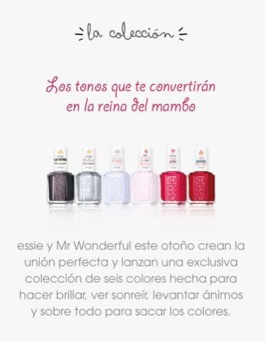 La chica de bailarinas rosas : Essie y Mr Wonderful sacan colección de uñas