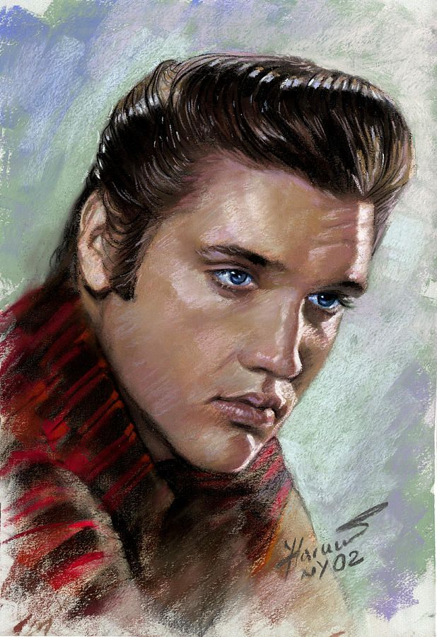 Elvis Presley Drawing - Elvis King Of Rock And Roll by ...