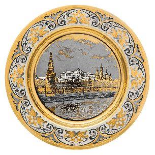 Подарочная тарелка Вид на Кремль - Блюда с логотипом <- Корпоративное <- VIP - Каталог | Универсальный интернет-магазин подарков и сувениров