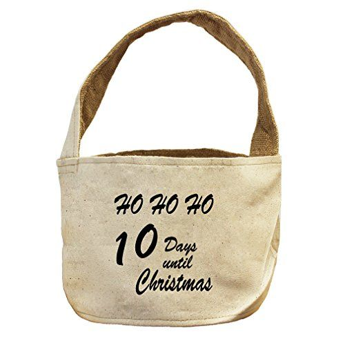 Style in Print 10 Days Until Christmas Canvas and Burlap Storage