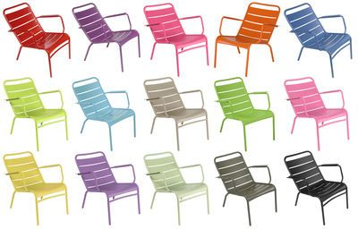 Luxembourg Low armchair - + 1 FREE outdoor cushion by Fermob