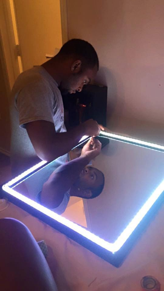 homemade vanity mirror by on etsy