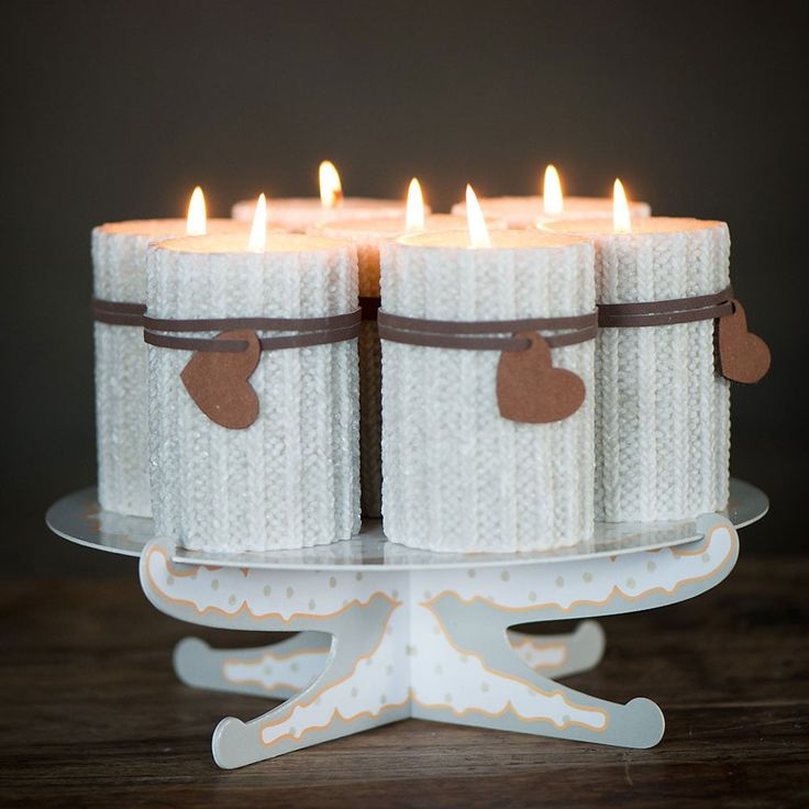 #Taartplateau met kaarsen | #cake stand with candles | World of Jet