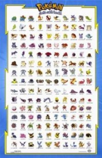 First 150 Pokemon (11x17 in.) Poster