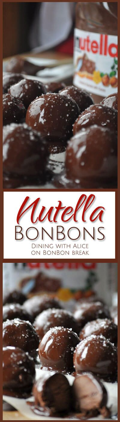 These Nutella BonBons are the perfect hostess gift, easy holiday treat and chocolate dessert for the season.
