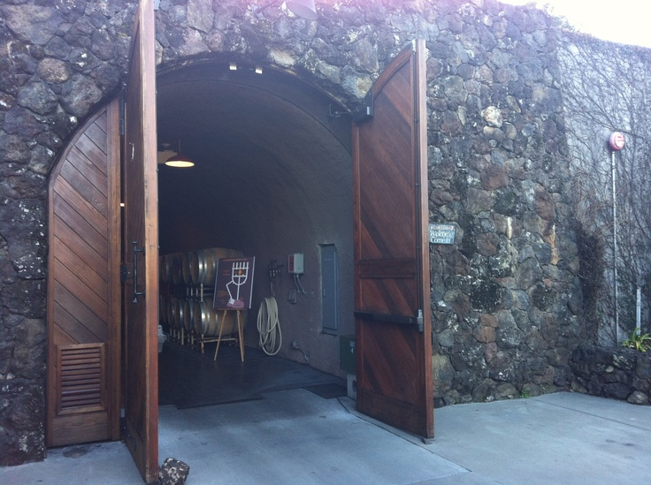 Entrance to the wine caves deerfield ranch winery sonoma for Door 9 sonoma