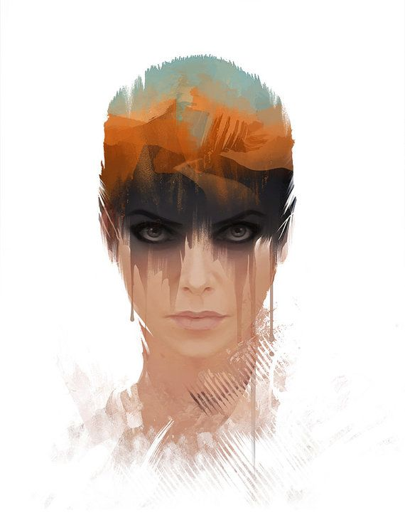Furiosa Portrait Art Print Mad Max Fury Road Post by jefflangevin