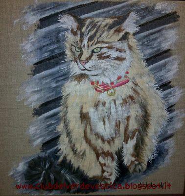{#cat #painting #art #oiloncanvas} club del verde vescica                                       : Dipingere UN GATTO