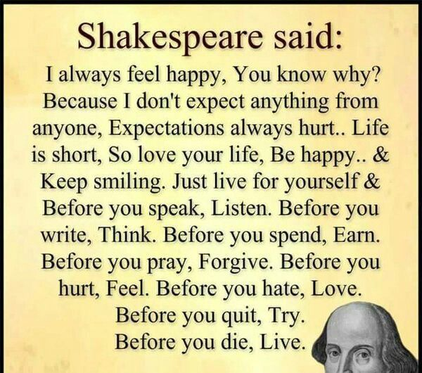 Shakespeare Said...and I'm just sayin'...