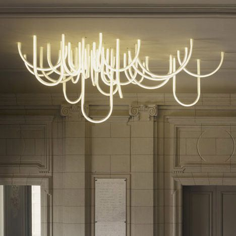 Les Cordes chandelier by Mathieu Lehanneur for Chateau Borely