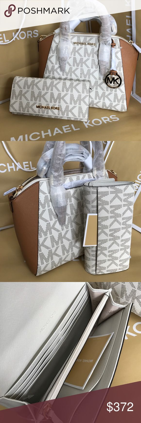 official michael kors outlet website yzik  Michael Kors Set 100% Authentic Michael Kors Purse Crossbody and Wallet,  both brand new