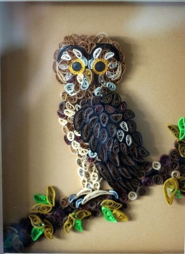 quilling quilling-inspiration: Paper Craft, Quilled Owl, Quilling Owl, Quilling Inspiration, Paper Art, Quilling Ideas, Paper Quilling, Craft Ideas, Crafts