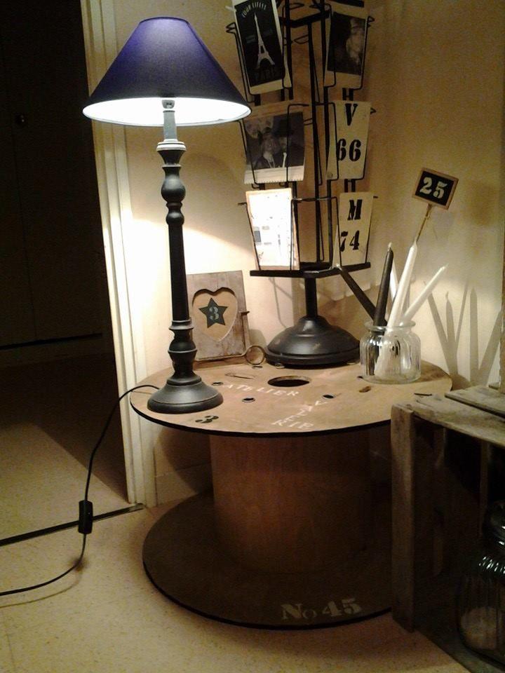 17 meilleures images propos de touret bobine sur pinterest c ble table tambour et bar. Black Bedroom Furniture Sets. Home Design Ideas