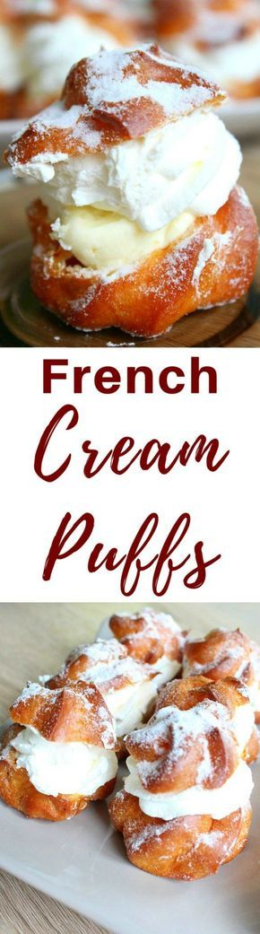 FRENCH CREAM PUFFS - These lovely french cream puffs are sure to wow your guests at any party! Delicate and airy, these delicious desserts, originally called choux a la creme, are the perfect way to indulge! #pastry #dessert #dessertrecipes #desserts #cream #recipe #recipeoftheday #recipeideas #recipeoftheweek