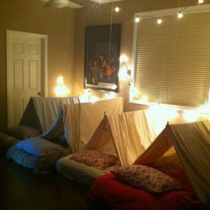 The perfect fort for a sleepover party!