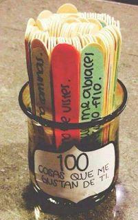 San Valentin. 100 cosas que me gustan de ti