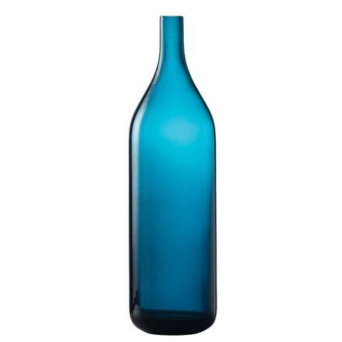 Medium Vase Azure Blue Glass Bottle – Yorkshire Trading Company
