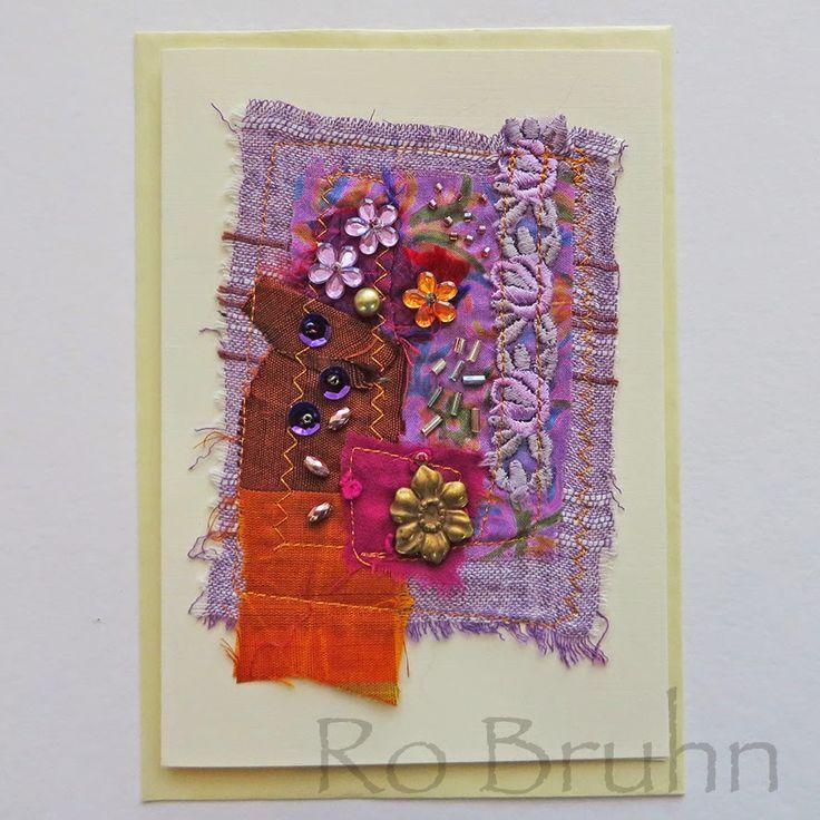Днем рождения, открытки из ткани и ниток