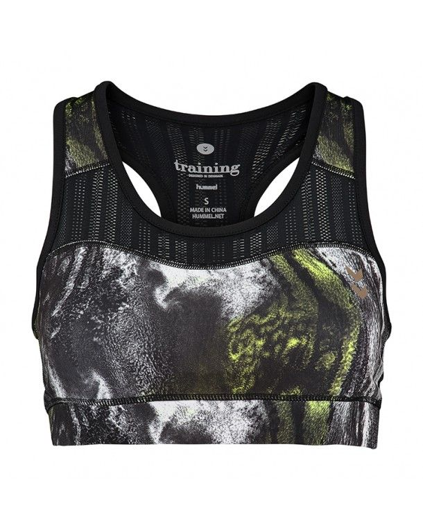 hummel Saga Sports Bra - Black - Dame Toppe og Sports BH'er