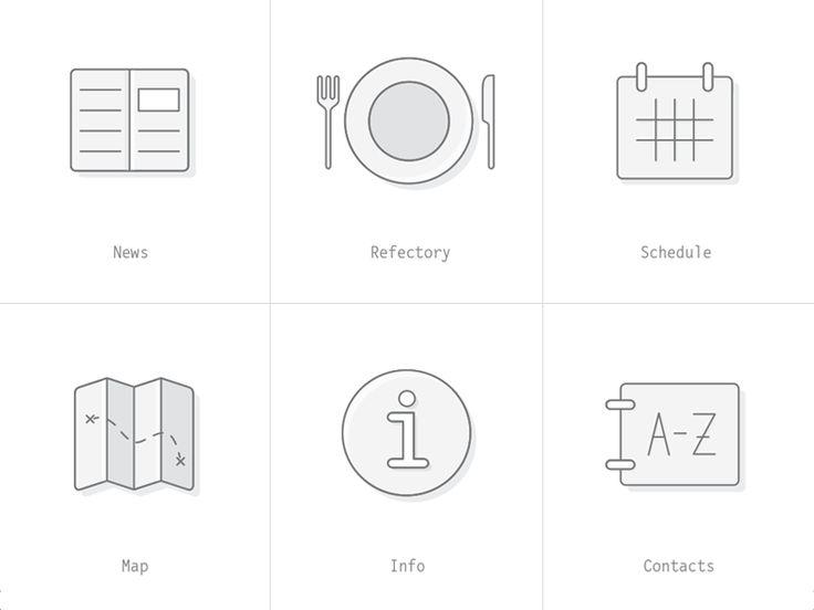 Icons for university app by Adam Hayek