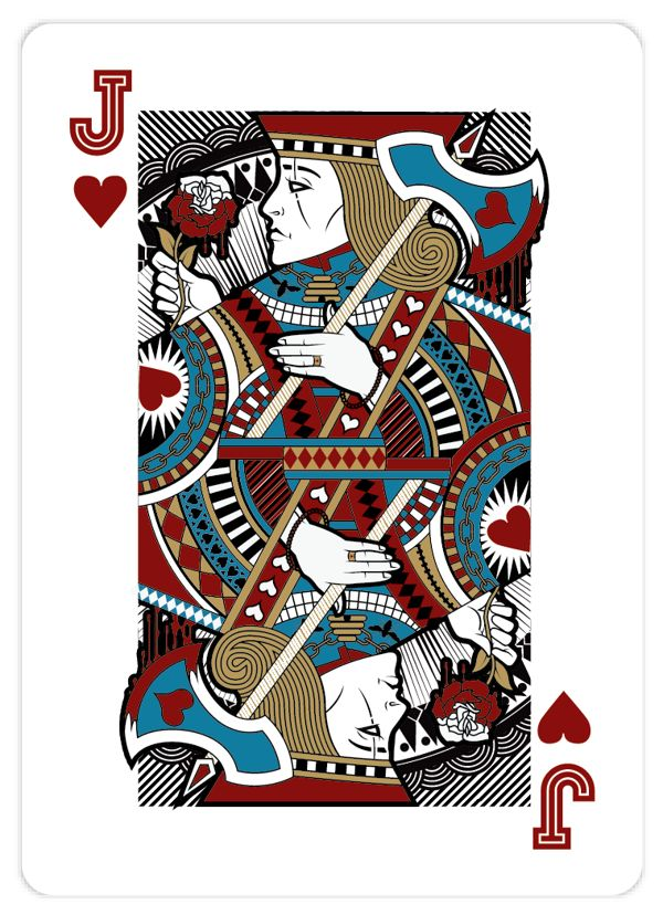 Jack Playing Card | Playing_Cards_by_John_Powell_Jack_of_Hearts