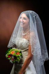 A bride posing for a portrait.
