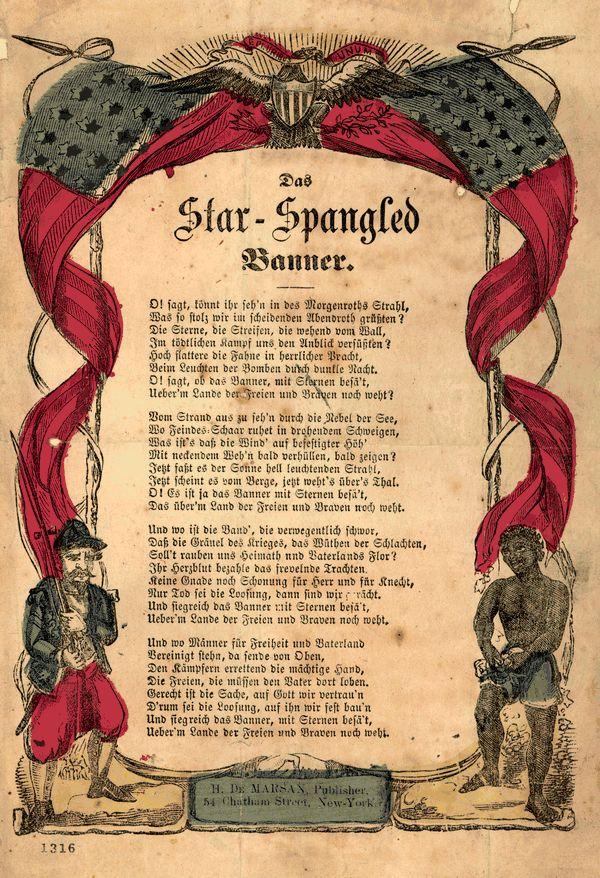 Amerikanische Nationalhymne Lyrics