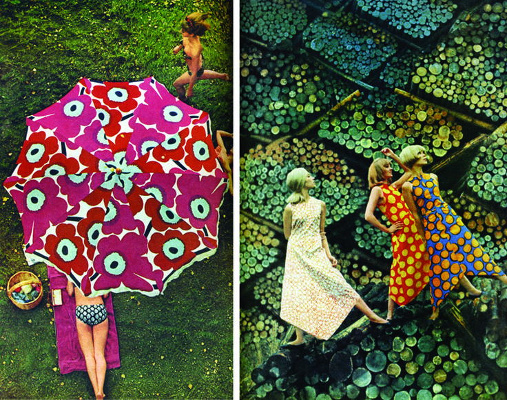 Life Magazine's iconic spread on Marimekko, June 1966. Photographed in Finland by Tony Vaccaro via @thisisluster #print #pattern #textile