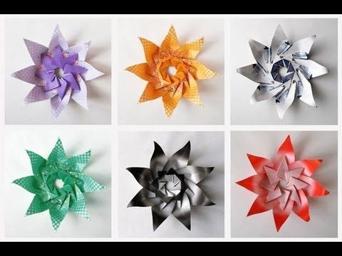 561 best paper images on pinterest crepe paper flowers diy modular origami lily star tutorial youtube mightylinksfo