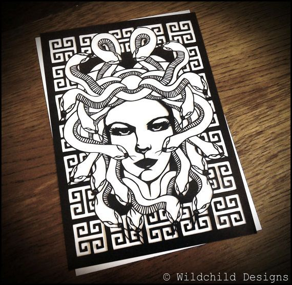 Medusa Greek Mythology Gorgon Snake Gothic by WildchildDesigns77