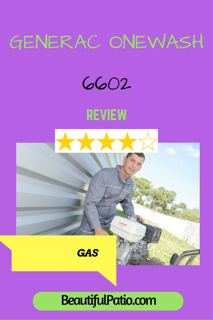 Generac Onewash 6602 review. The most innovative gas pressure washer for home use?