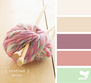 Love this color palette.  I need to add more pink in my home (wonder how James will feel about that).