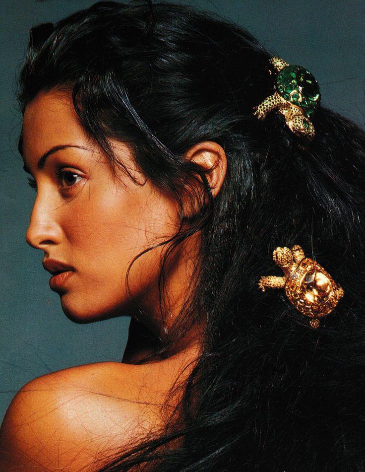 "aphroditeinfurs: "" Yasmeen Ghauri for Vogue Germany, 1993 """