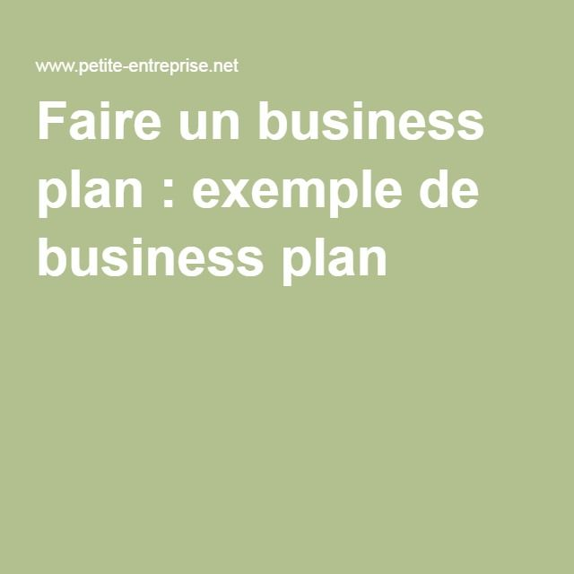 Faire un business plan : exemple de business plan